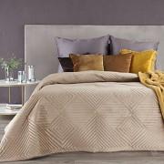 Sametový přehoz na postel Sarah béžový