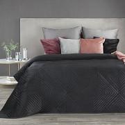 Sametový přehoz na postel Sarah černý