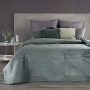 Sametový přehoz na postel Sarah tmavě mátový -vel. 170x210cm