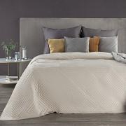 Sametový přehoz na postel Sarah krémový