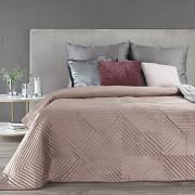 Sametový přehoz na postel Sarah kávový
