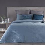 Sametový přehoz na postel Sarah modrý