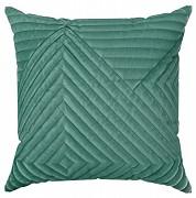 Sametový povlak na polštář Sarah zelený