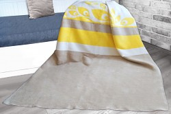Deka Greno Glamour Sunny šedo-žlutá