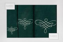 Sada ručníků a osušky zelená