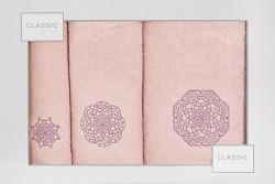 Sada ručníků a osušky růžová