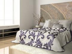 Přehoz na postel oboustranný fialový