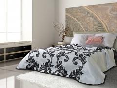 Přehoz na postel oboustranný šedý