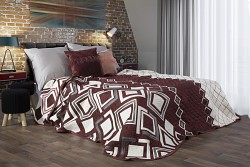 Přehoz na postel oboustranný vínový- 170 x 210cm