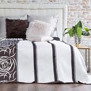 Přehoz na postel oboustranný hnědý