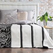 Přehoz na postel oboustranný černý- 170 x 210cm