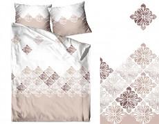 Povlečení  bavlněné bílo-růžové