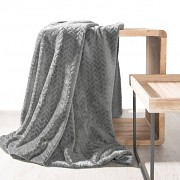 Deka Cindy s 3D vzorem šedá- 70x160cm