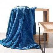 Deka Cindy s 3D vzorem modrá- 70x160cm