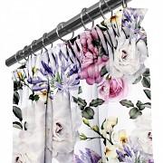 Moderní závěs-Květy-na řasící stuhu