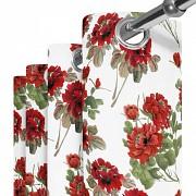 Moderní závěs Červené květy