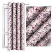 Moderní závěs -Lila s květy