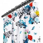 Moderní závěs-Barevné květy-na řasící stuhu