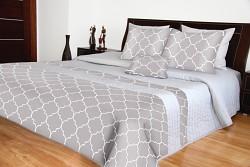 Přehoz na postel šedý 240x240cm