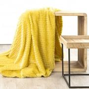 Deka Ella s 3D vzorem žlutá