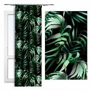 Moderní závěs-Palmové listy-na řasící stuhu