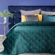 Sametový přehoz na postel tyrkysový RIA-vel. 170x210cm
