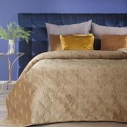 Sametový přehoz na postel medový RIA-vel. 170x210cm