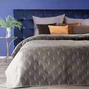 Sametový přehoz na postel béžový RIA -vel. 170x210cm