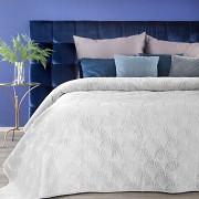 Sametový přehoz na postel bílý RIA -vel. 170x210cm