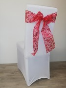 Vánoční potahy s červenou mašlí-sada 4ks