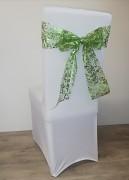 Vánoční potahy se zelenou mašlí-sada 4ks