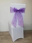 Vánoční potahy s fialovou mašlí-sada 4ks