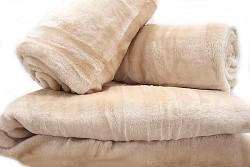 Přehoz na sedací soupravu pískový