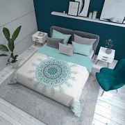 Přehoz na postel Mandala tyrkysová