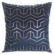 Sametový povlak na polštář Mink modrý