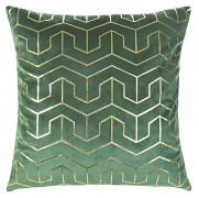 Sametový povlak na polštář Mink zelený