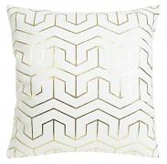 Sametový povlak na polštář Mink bílo-zlatý