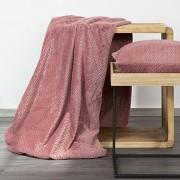 Přehoz (pléd) na křeslo růžový