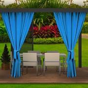 Závěs na terasu modrý azurový- voděodolný