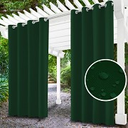 Závěs na terasu lahvově zelený-průchodky-voděodolný