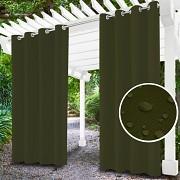 Závěs na terasu khaki- průchodky- voděodolný 155/220cm