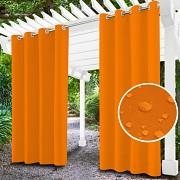 Závěs na terasu oranžový- průchodky- voděodolný 155/220cm
