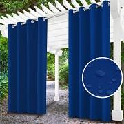 Závěs na terasu modrý- průchodky- voděodolný 155/220cm