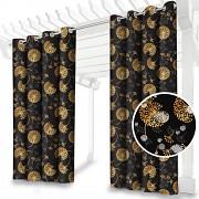 Závěs zahradní černý+ zlaté chmýří-155/220cm