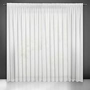 Bílá záclona s lemováním 250/600cm