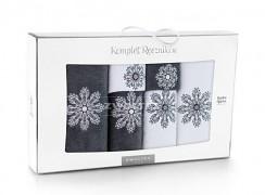 Sada ručníků bílo-grafitová-6 kusů