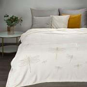 Bílá deka Lori s vážkami