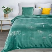 Tyrkysová deka Lori s vážkami
