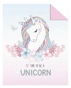 Dětský přehoz na postel-Unicorn