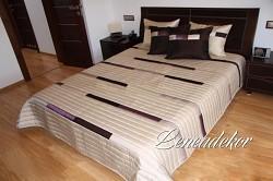 Luxusní přehoz na postel 12A-rozměry š.170cmx d.210cm(včetně 2ks povlaků na polštář 50x60cm)